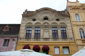 one of the turn-of-the-century houses in old Brasov