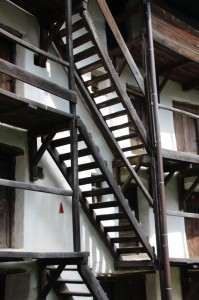 stairs connecting the floors