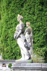 sculptures in the palace garden