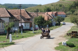 quintesential Transylvanian village view