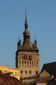 Clock tower in the citadel of Sighisoara