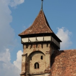 the impressive church tower in Valea Viilor, one the Saxon villages in Transylvania