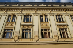 and these are the windows of one of the Municipal buildings  at the Piata Mara