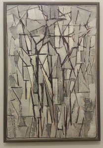 this is an early abstract Mondriaan, Composition Trees II (1912-13)