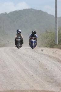 motorbikes on the coastal road