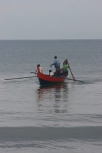 fishermen near the beach, early morning