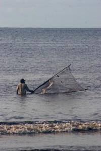 fisherman near Meulaboh