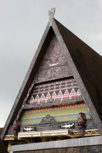 the triangle gable roof of the Medan Museum