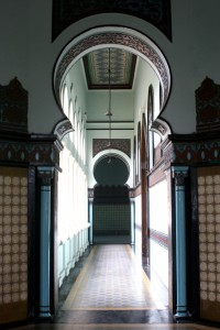 one of the corridors in the Mesjid Raya in Medan