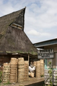 the tourist information in Lingga, where you also pay the donation