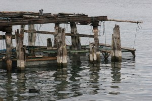 a fishing platform in Lake Toba