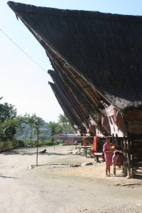 string of traditional houses in Jangga
