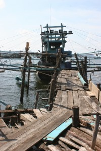 a jetty to access the fishing boats