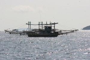 large fishing vessel offshore