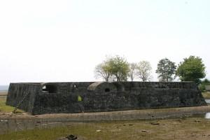 the seemingly heavily restored Indra Patra fort, outside Banda Aceh