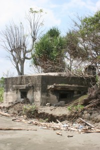 also, near the fort, the coast is protected by concrete bunkers, no doubt more recent than the fort itself