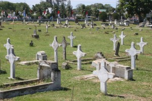 these are; what is remarkable is that the cemetary is so well-maintained