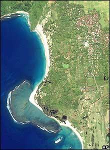 the coast SW of Banda Aceh before the tsunami