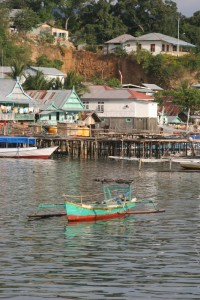 boats in front of the Labuanbaju jetty