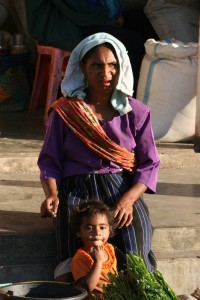 market woman in Bajawa