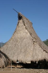 steep, tall roof