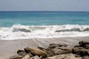 the surf at Paga beach, on the north coast