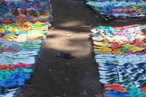 plenty flip-flops for sale in the Talibura market