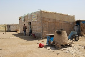 the restaurant, only excitement along the road between Khiva and Bukhara; clay oven in the front, toilets in the back