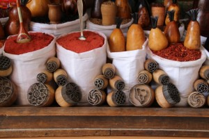 some spices remain, in the bazaar, but in a touristy fashion