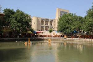 Lyab-i-Hauz, the pond in the centre of Bukhara