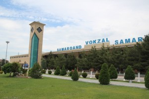 the vokzoal - railway station - of Samarkand, huge, for a few trains per day