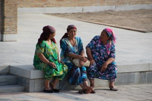 women outside the Gur Emir