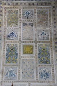 decoration inside a mausoleum in the Dorut-Tilovat madrasse