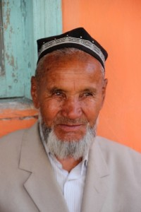 and another Uzbek man, with skull cap