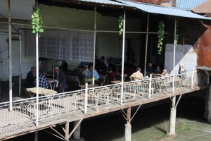 the tea house along the river, only for men, obviously