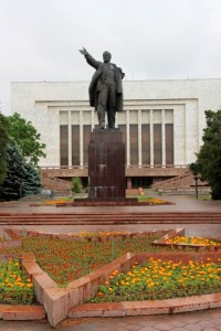 Lenin, outside the State History Museum