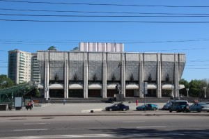 the Auezov Drama Theatre, example of Soviet architecture