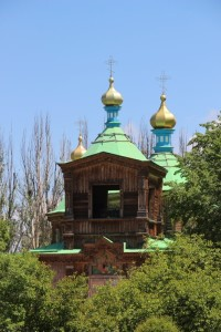 the cupolas of the Orthodox church