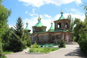 Karakol's Orthodox church, entirely made of wood