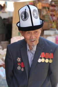 one of the customers in the Osh bazaar in Bishkek