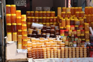one of the honey stalls