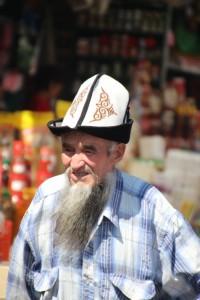 another man roaming the bazaar