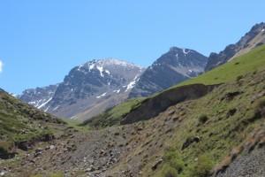 impressive peaks along the Kara Balta river