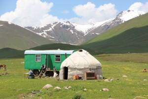yurt and camping wagon