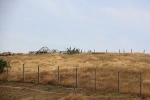 the border between Kyrgyzstan and Uzbekistan, 20 m no-man's land between barbed wire