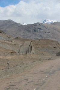 the border zone fence, and duplicate road