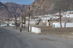 Murghab, single story houses and dirt streets