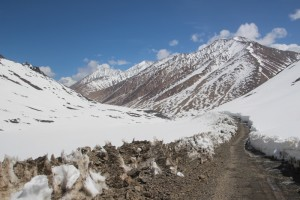 the road up the Bazardera Pass, cleared of snow