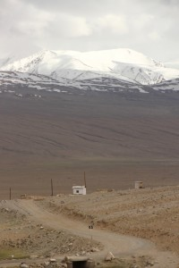 view of the Koh-i-Pamir in Afghanistan, and a military post