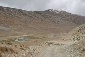 the humble Pamir River, which forms the border with Afghanistan